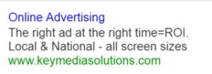 Original Search Ad Example