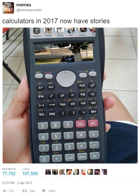 calculators have stories
