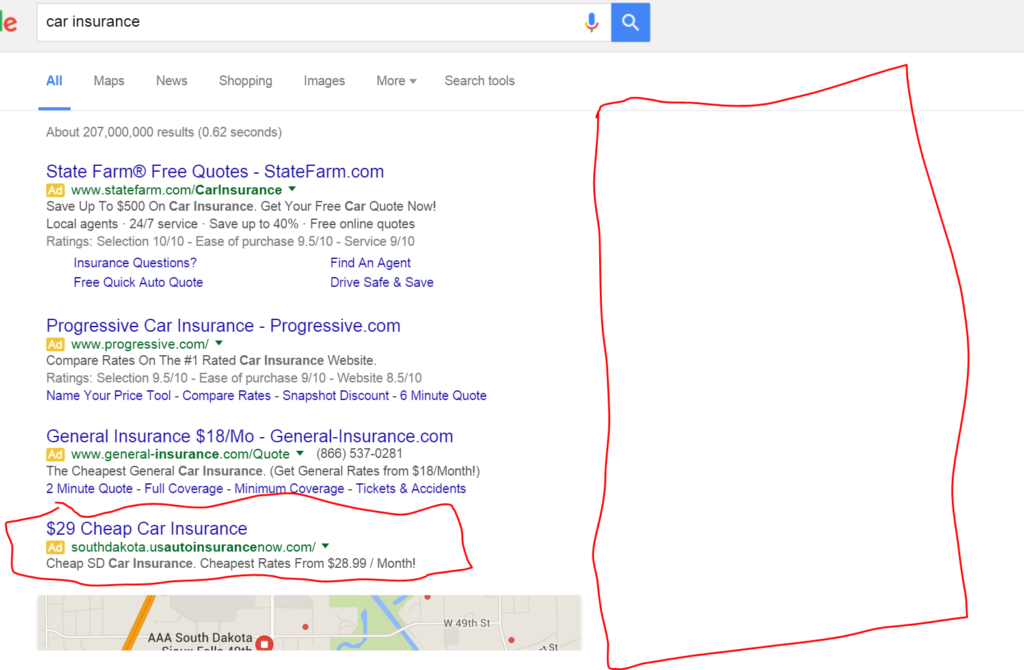Updated SERP Results Page